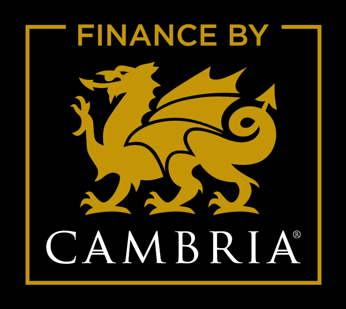 Yellow Cambria Logo on black background